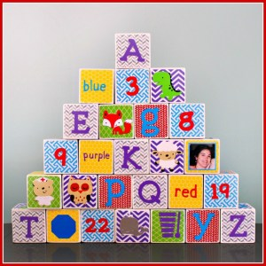 Gender Neutral Alphabet Blocks Framed