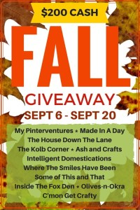 Fall Giveaway – $200 CASH!!