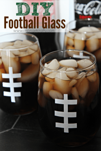 diy football glasses
