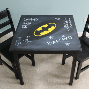 DIY Batman Chalkboard Play Table
