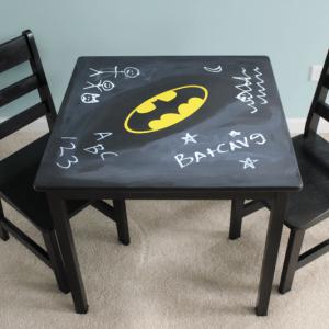 DIY Batman Chalkboard Play Table