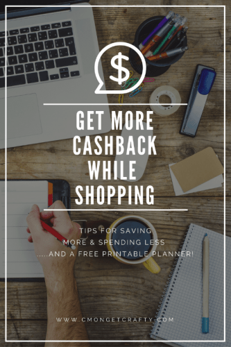 Keep more cash in your pocket and maximize savings with this cashback planner printable!