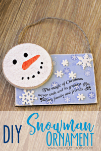 DIY Snowman Christmas Ornament: 2016 Ornament Exchange