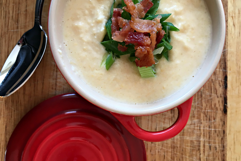 I am all about soup during Chicago winters, and this one offers my favorite flavors but still low carb!! Try this loaded cauliflower soup and be amazed!