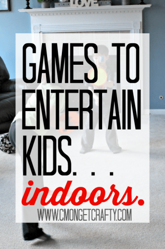 What to do when it is too cold or icky outside for the kids to play? Check out some easy games to entertain kids INDOORS! #GoldfishGameTime #ad