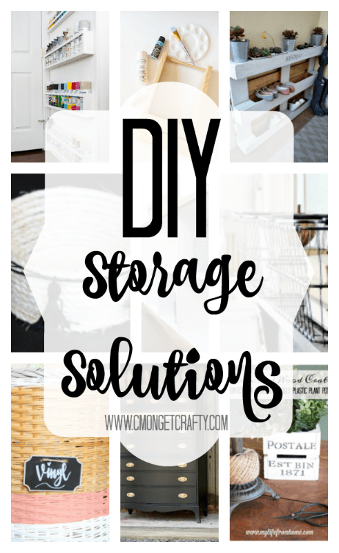I'm constantly searching for storage solutions for all my clutter, but I LOVE all these ideas from smarter bloggers than I!