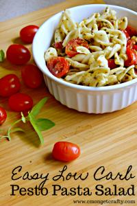 Easy Low Carb Pesto Pasta Salad