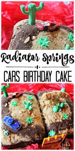 Disney's CARS Radiator Springs Birthday Cake