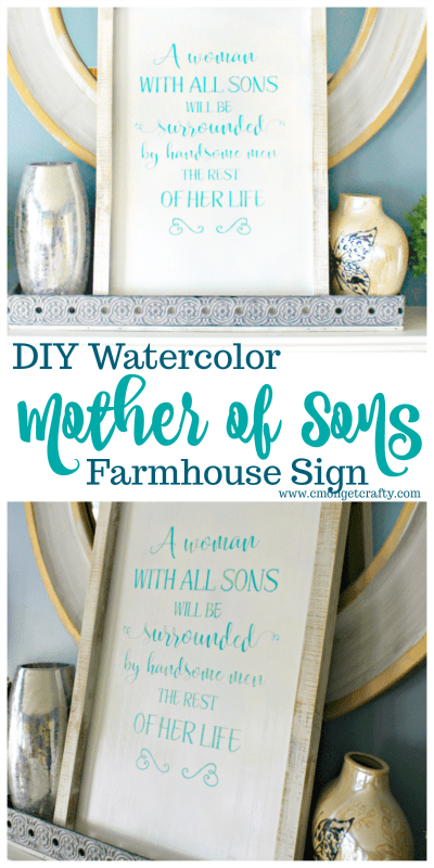 I made this as a housewarming gift, but I sort of want to keep it. I love how my farmhouse sign turned out! #CraftyDestashChallenge