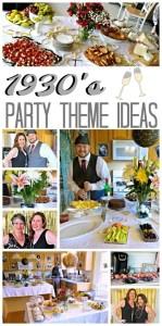 1930's Theme Birthday Party Ideas