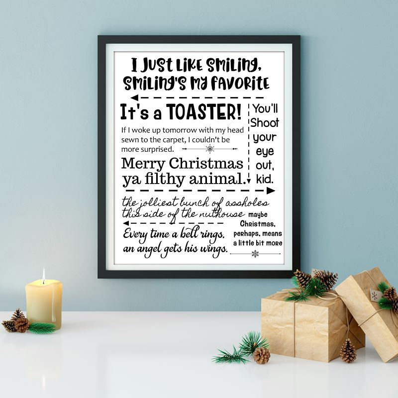 Free Printable of Christmas movie quotes