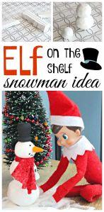 Elf on the Shelf Idea ~ Elf Sized Snowman