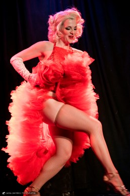Rue Royale Burlesque featuring Dirty Martini at Dante's in Portland on Jan. 28, 2016. (photo by Casey Campbell Photography)