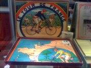 Jeu du Tour de France, vers 1920, complet, en état d'usage (80/100 euros).