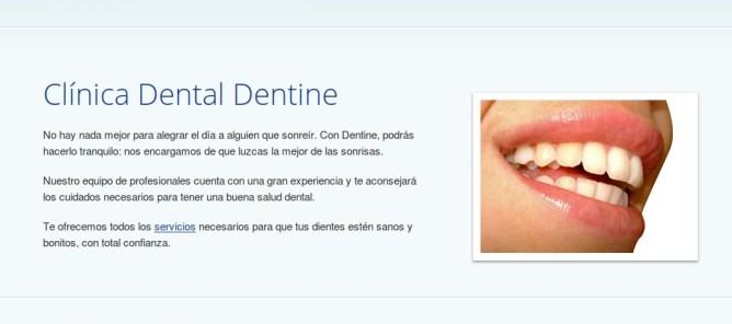 Web de la Clínica Dental Dentine