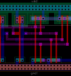 the parity checker instantiates 8 xors and an inverter which can be laid out in a 2x4 array with inputs d0 7 on the left and check on the right  [ 1285 x 748 Pixel ]