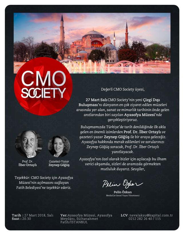 CMO Society İlber Ortaylı'yı ağırlıyor