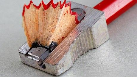 Pencil sharpener and pencil