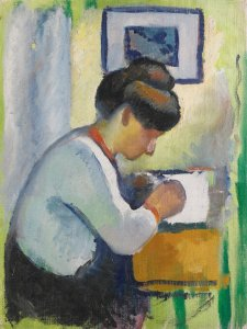 Woman Writing by August Macke