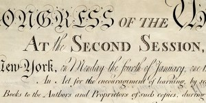 United States Copyright Act of 1790, detail of original document