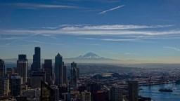 Seattle Skyline Rainier