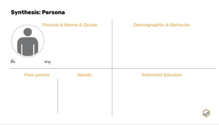 Persona Template | Skooldio Blog - Service Design คืออะไร? ทำความรู้จักเครื่องมือที่จะช่วยออกแบบธุรกิจให้เป็นที่รัก