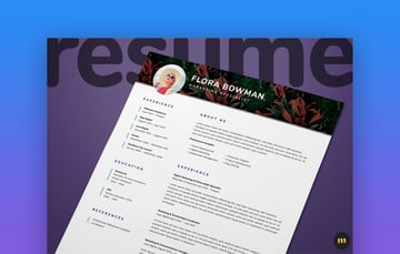 25 Best One Page Resume Templates Simple To Use Format Examples 2020