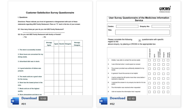 Use a feedback survey template so you can give out a document that your clients can answer based on how they feel about your services and offers. 19 Best Free Questionnaire Microsoft Word Templates 2021
