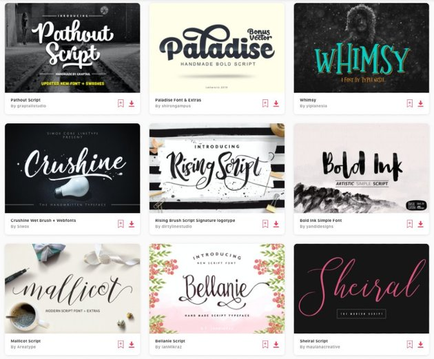 This free fonts collection also offers useful content and a huge collection of truetype face and opentype font families categorized in alphabetical order. 30 Beautiful Modern Script Fonts Typefaces For 2021