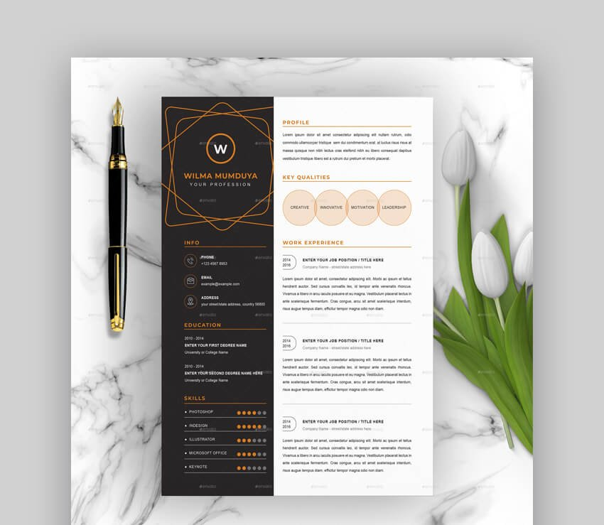 A hiring manager would look at your. Free Creative Resume Templates Word Psd Downloads 2021