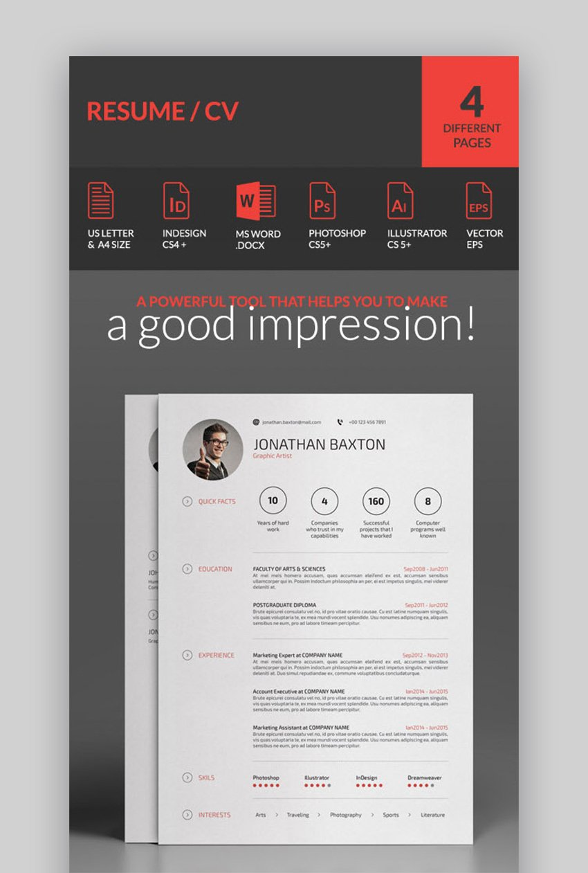 However, when crafted well, a resume objective can make you and your skills stand out from the crowd and introduce you. 30 Simple Resume Cv Templates Easily Customizable Editable For 2020