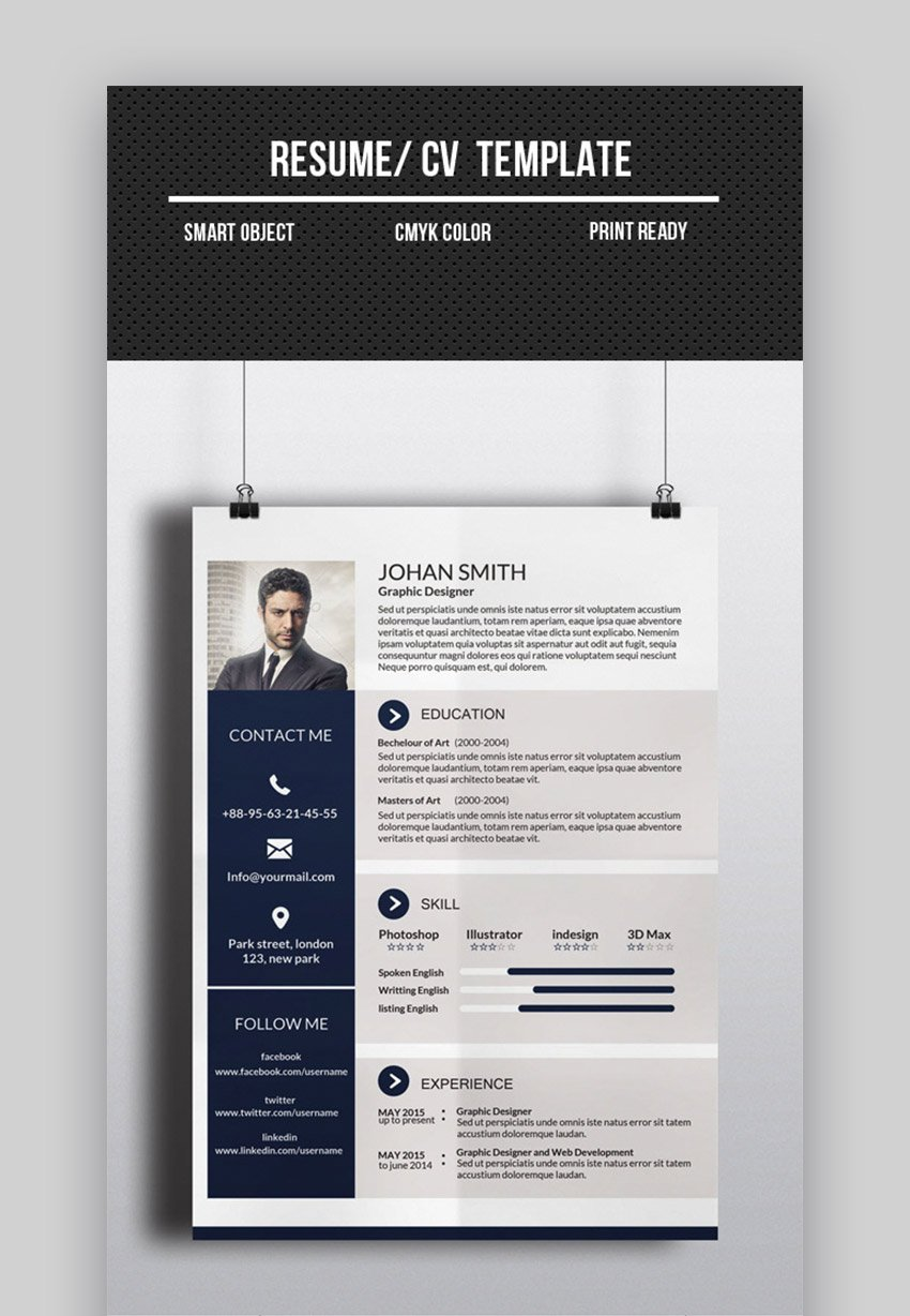 This balanced approach means a resume or cv that is creative and interesting but maintains professional standards as well. 25 Best One Page Resume Templates Examples 2021