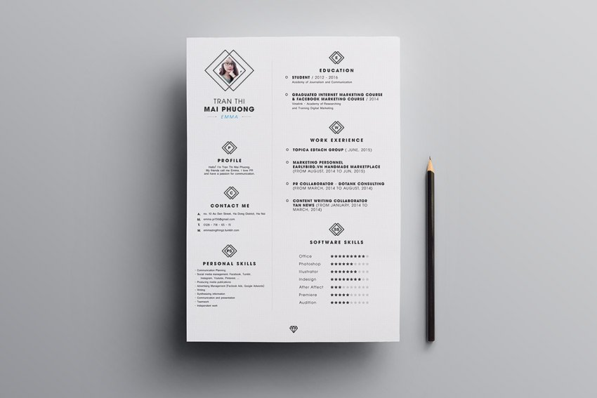 fillable invoice template free download. 20 Best Free Modern Resume Templates And Cv Designs 2021