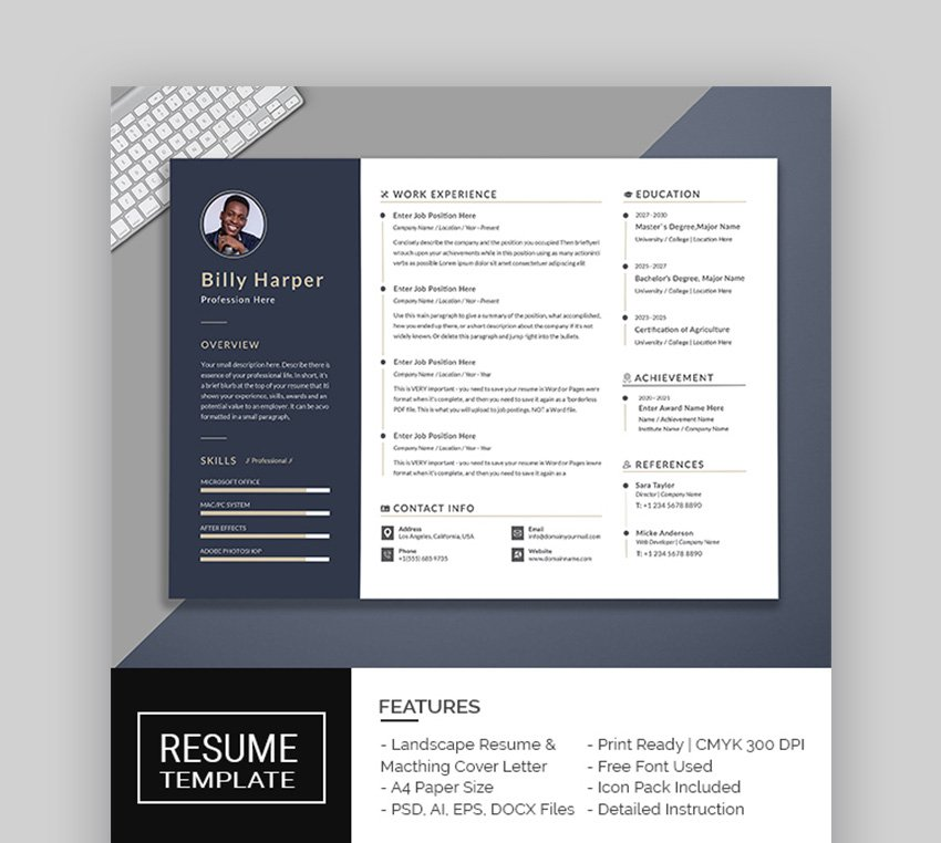This resume template is professionally organized and labelled so every beginner can edit it.features of resume template: 39 Professional Ms Word Resume Templates Cv Design Formats