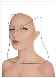create backlit elegant female
