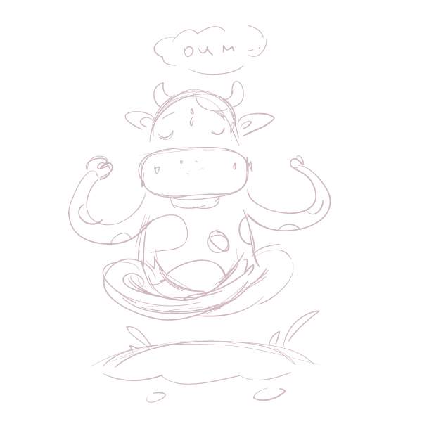 Om! how to create a meditating cartoon cow in adobe