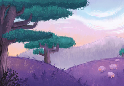 Cartoon Girl Live Wallpaper Icon How To Create A Pastel Painted Landscape In Adobe Photoshop
