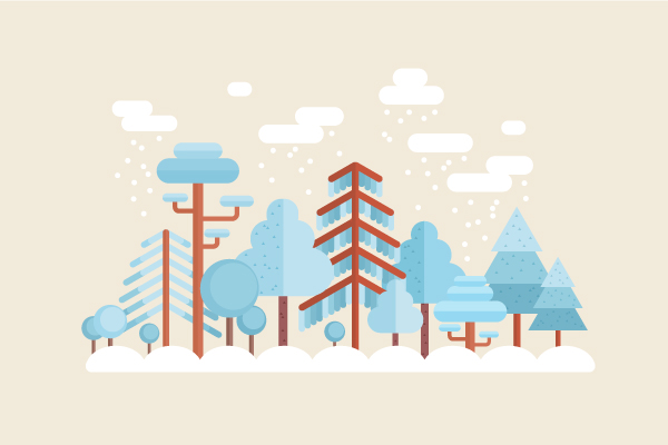 How To Create A Flat Winter Scene In Adobe Illustrator