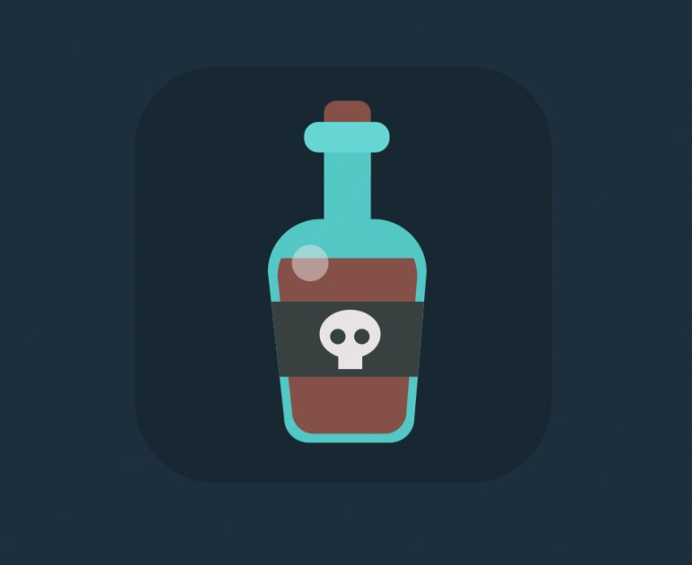 rum bottle icon is ready