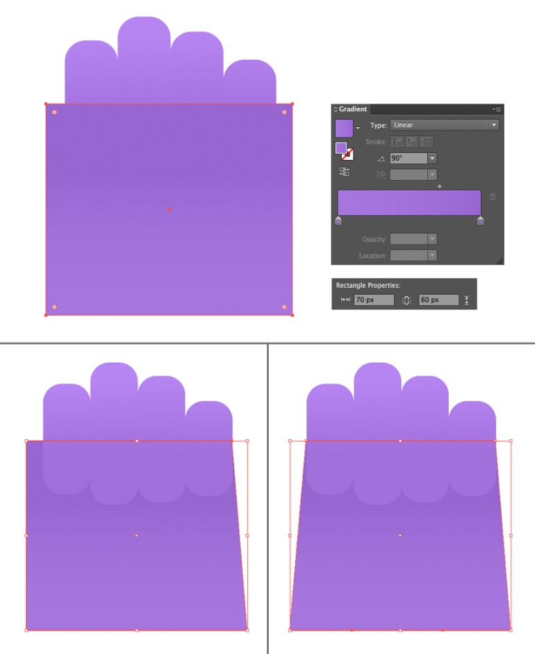 make a palm from a rectangle 1