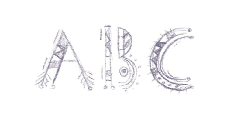 font sketch