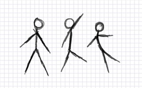 How to Draw a Stick Figure: a Complex Guide
