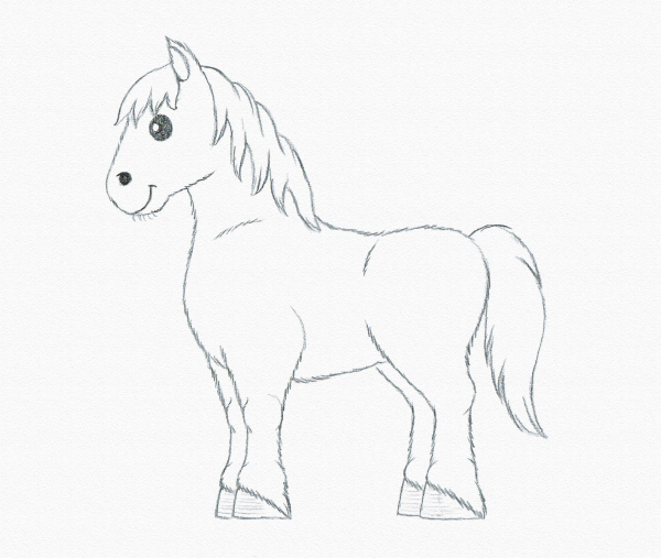 Drawing for Kids: Draw a Pony