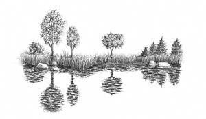 draw water nature step waterfall lake sea waves pencils bodies min