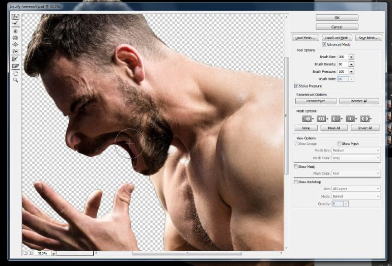 how to warp body in photoshop