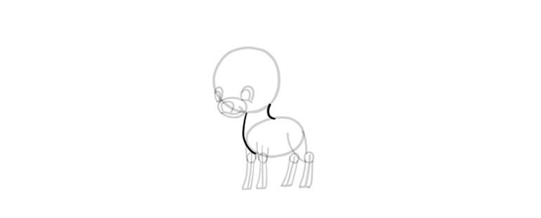 chibi deer neck