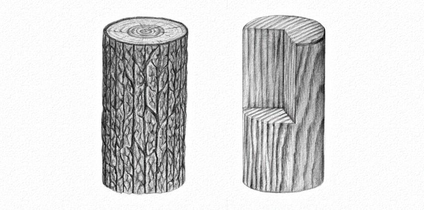 como desenhar madeira