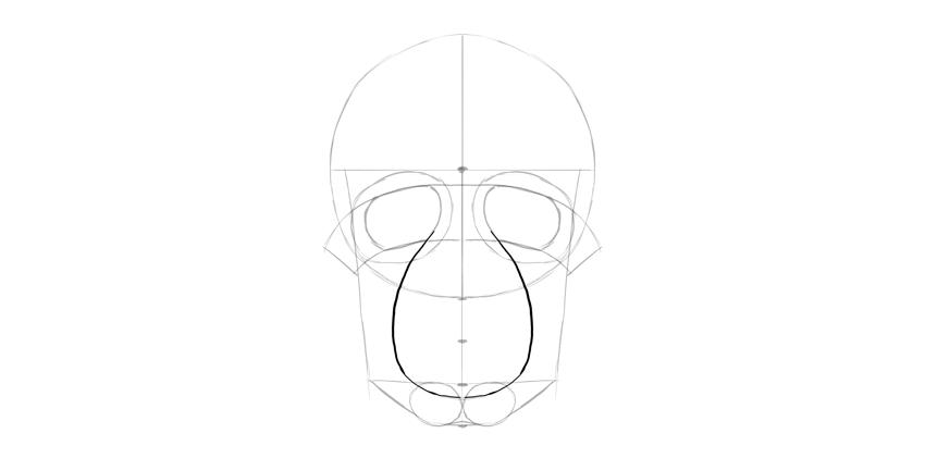 forma de boca de crânio humano