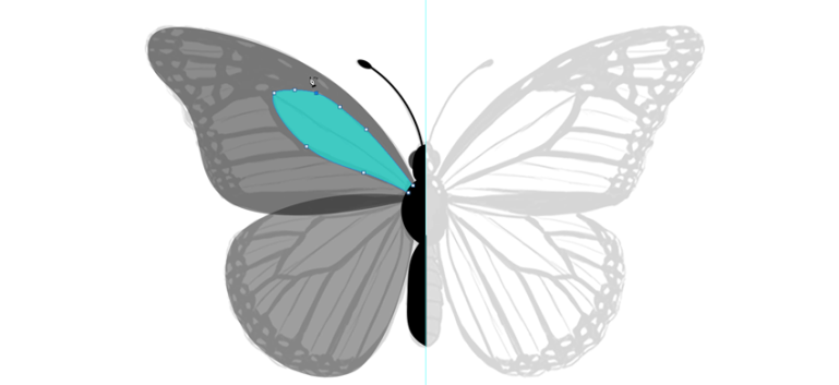 photoshop vector buttefly wing pattern