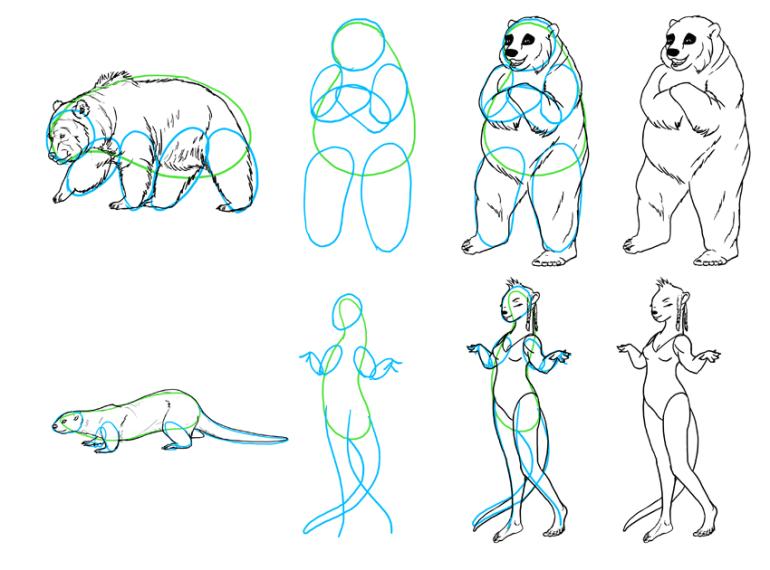 anthro furry body type simplifying